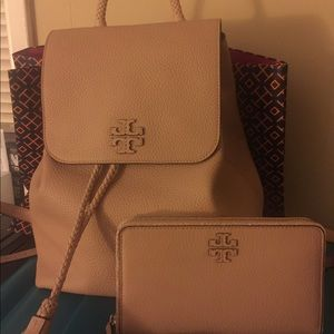TORY BURCH AUTHENTIC BACKPACK AND WALLET